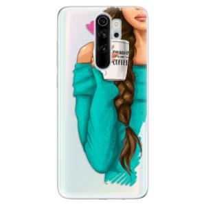 Silikonové odolné pouzdro iSaprio - My Coffee and Brunette Girl na mobil Xiaomi Redmi Note 8 Pro
