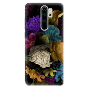 Silikonové odolné pouzdro iSaprio - Dark Flowers na mobil Xiaomi Redmi Note 8 Pro