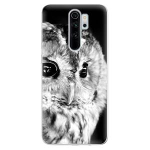 Silikonové odolné pouzdro iSaprio - BW Owl na mobil Xiaomi Redmi Note 8 Pro