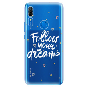 Silikonové odolné pouzdro iSaprio - Follow Your Dreams white na mobil Huawei P Smart Z