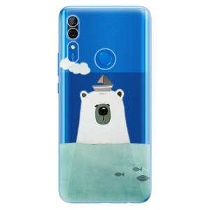 Silikonové odolné pouzdro iSaprio - Bear With Boat na mobil Huawei P Smart Z