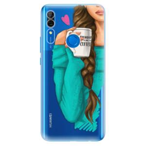 Silikonové odolné pouzdro iSaprio - My Coffee and Brunette Girl na mobil Huawei P Smart Z