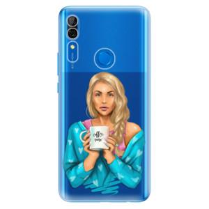 Silikonové odolné pouzdro iSaprio - Coffee Now Blond na mobil Huawei P Smart Z