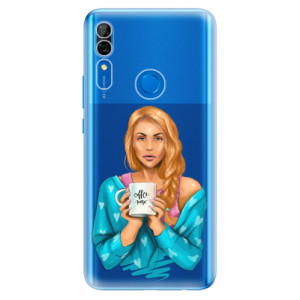 Silikonové odolné pouzdro iSaprio - Coffee Now Redhead na mobil Huawei P Smart Z