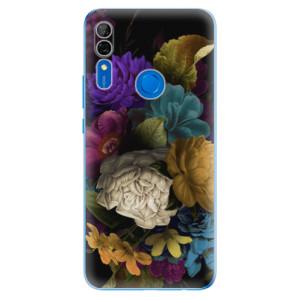 Silikonové odolné pouzdro iSaprio - Dark Flowers na mobil Huawei P Smart Z