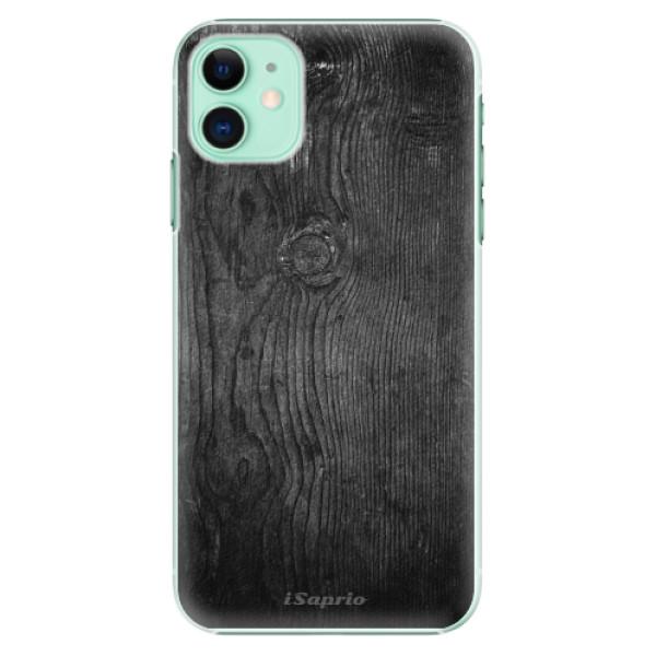 Plastové pouzdro iSaprio - black Wood 13 na mobil Apple iPhone 11