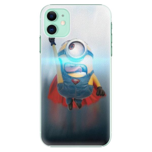 Plastové pouzdro iSaprio - Mimons Superman 02 na mobil Apple iPhone 11