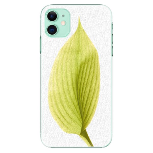 Plastové pouzdro iSaprio - Green Leaf na mobil Apple iPhone 11
