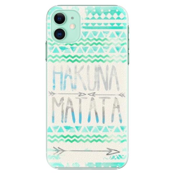 Plastové pouzdro iSaprio - Hakuna Matata Green na mobil Apple iPhone 11
