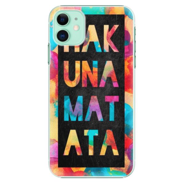 Plastové pouzdro iSaprio - Hakuna Matata 01 na mobil Apple iPhone 11