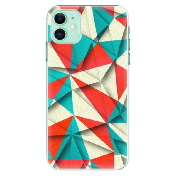 Plastové pouzdro iSaprio - Origami Triangles na mobil Apple iPhone 11