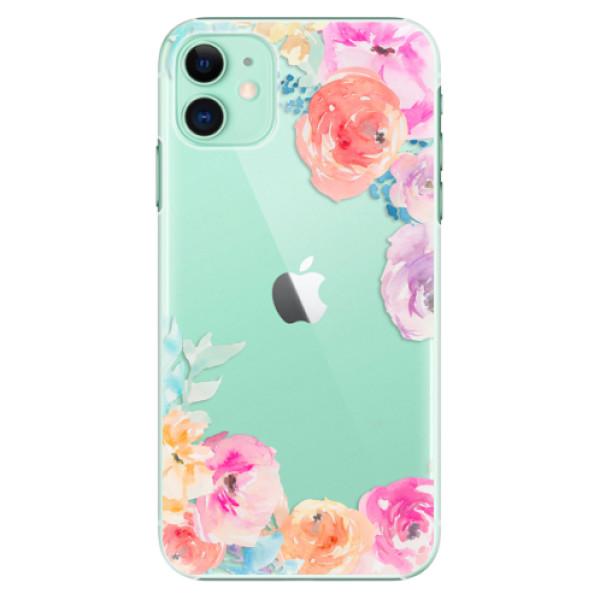 Plastové pouzdro iSaprio - Flower Brush na mobil Apple iPhone 11