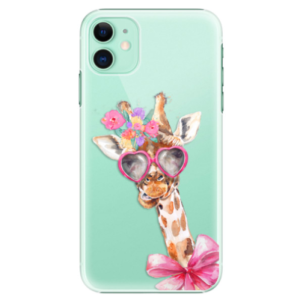 Plastové pouzdro iSaprio - Lady Giraffe na mobil Apple iPhone 11