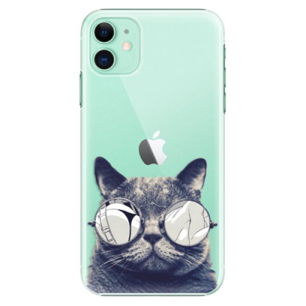 Plastové pouzdro iSaprio - Crazy Cat 01 na mobil Apple iPhone 11