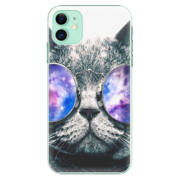 Plastové pouzdro iSaprio - Galaxy Cat na mobil Apple iPhone 11