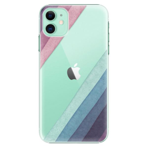 Plastové pouzdro iSaprio - Glitter Stripes 01 na mobil Apple iPhone 11