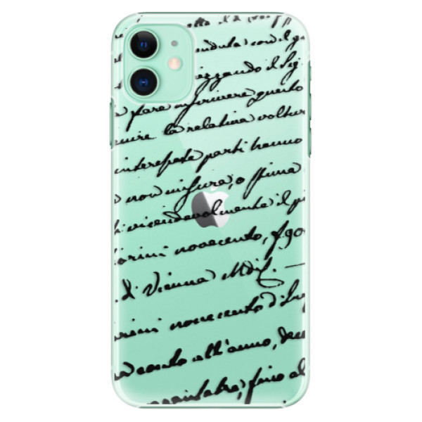 Plastové pouzdro iSaprio - Handwriting 01 black na mobil Apple iPhone 11