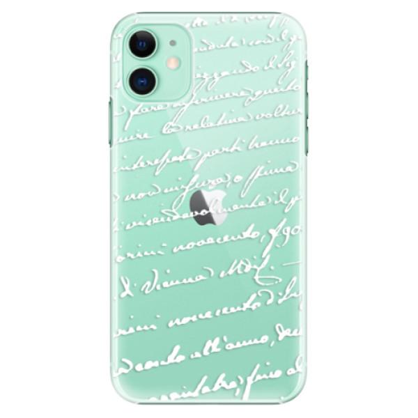 Plastové pouzdro iSaprio - Handwriting 01 white na mobil Apple iPhone 11