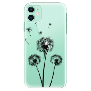 Plastové pouzdro iSaprio - Three Dandelions black na mobil Apple iPhone 11