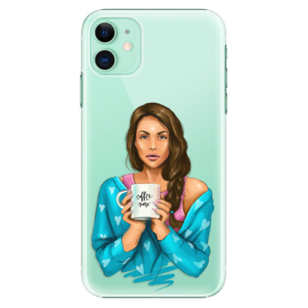 Plastové pouzdro iSaprio - Coffee Now Brunette na mobil Apple iPhone 11