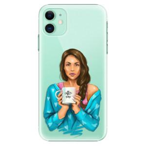 Plastové pouzdro iSaprio - Coffee Now Brunette na mobil Apple iPhone 11