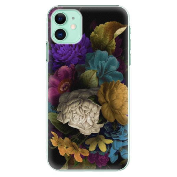 Plastové pouzdro iSaprio - Dark Flowers na mobil Apple iPhone 11