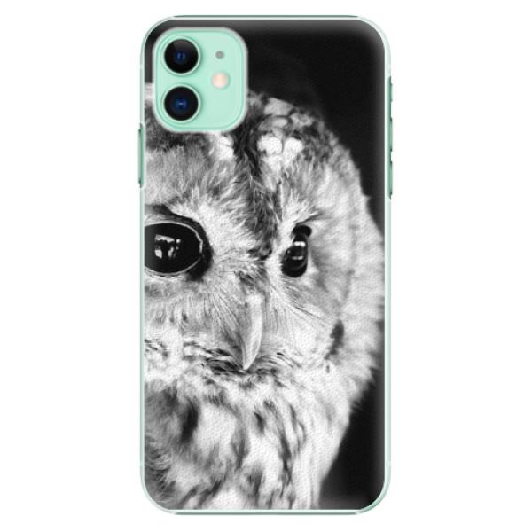 Plastové pouzdro iSaprio - BW Owl na mobil Apple iPhone 11