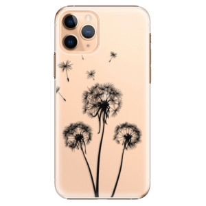 Plastové pouzdro iSaprio - Three Dandelions black na mobil Apple iPhone 11 Pro