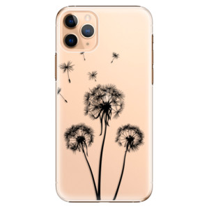 Plastové pouzdro iSaprio - Three Dandelions black na mobil Apple iPhone 11 Pro Max
