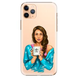 Plastové pouzdro iSaprio - Coffee Now Brunette na mobil Apple iPhone 11 Pro Max