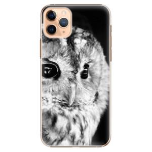 Plastové pouzdro iSaprio - BW Owl na mobil Apple iPhone 11 Pro Max