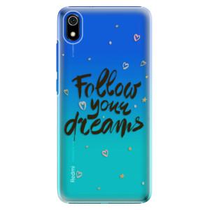 Plastové pouzdro iSaprio - Follow Your Dreams black na mobil Xiaomi Redmi 7A