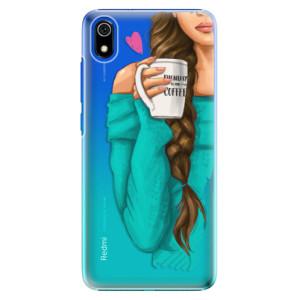 Plastové pouzdro iSaprio - My Coffee and Brunette Girl na mobil Xiaomi Redmi 7A
