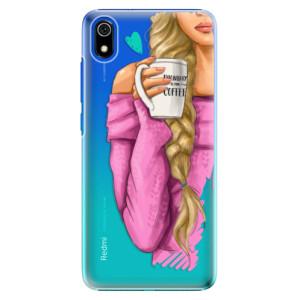 Plastové pouzdro iSaprio - My Coffee and Blond Girl na mobil Xiaomi Redmi 7A