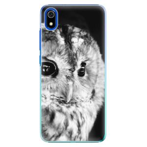Plastové pouzdro iSaprio - BW Owl na mobil Xiaomi Redmi 7A