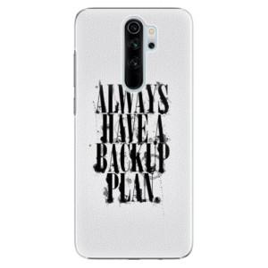 Plastové pouzdro iSaprio - Backup Plan na mobil Xiaomi Redmi Note 8 Pro