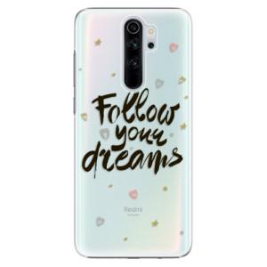Plastové pouzdro iSaprio - Follow Your Dreams black na mobil Xiaomi Redmi Note 8 Pro