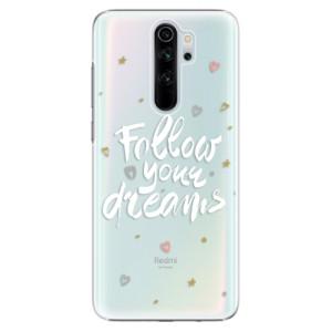 Plastové pouzdro iSaprio - Follow Your Dreams white na mobil Xiaomi Redmi Note 8 Pro