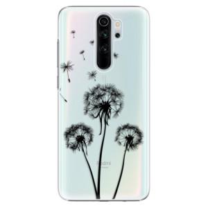 Plastové pouzdro iSaprio - Three Dandelions black na mobil Xiaomi Redmi Note 8 Pro