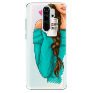 Plastové pouzdro iSaprio - My Coffee and Brunette Girl na mobil Xiaomi Redmi Note 8 Pro