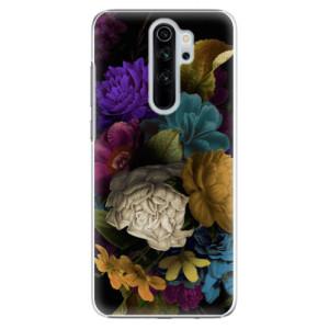 Plastové pouzdro iSaprio - Dark Flowers na mobil Xiaomi Redmi Note 8 Pro
