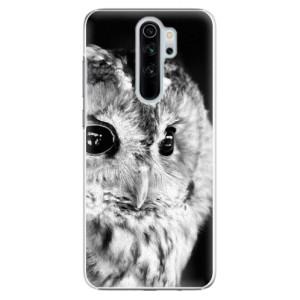 Plastové pouzdro iSaprio - BW Owl na mobil Xiaomi Redmi Note 8 Pro