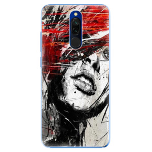 Plastové pouzdro iSaprio - Sketch Face na mobil Xiaomi Redmi 8