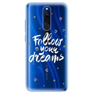 Plastové pouzdro iSaprio - Follow Your Dreams - white na mobil Xiaomi Redmi 8
