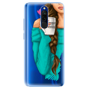 Plastové pouzdro iSaprio - My Coffe and Brunette Girl na mobil Xiaomi Redmi 8