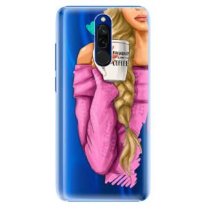 Plastové pouzdro iSaprio - My Coffe and Blond Girl na mobil Xiaomi Redmi 8