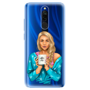 Plastové pouzdro iSaprio - Coffe Now - Blond na mobil Xiaomi Redmi 8