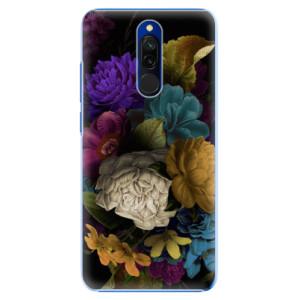Plastové pouzdro iSaprio - Dark Flowers na mobil Xiaomi Redmi 8