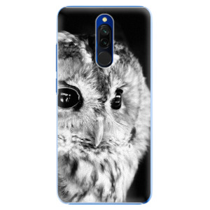 Plastové pouzdro iSaprio - BW Owl na mobil Xiaomi Redmi 8