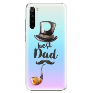 Plastové pouzdro iSaprio - Best Dad na mobil Xiaomi Redmi Note 8